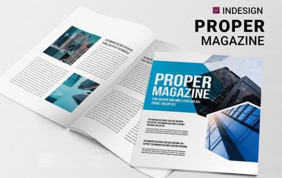 正确| 杂志排版版式设计模板下载