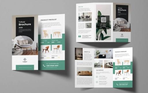 家具三折小册子 三折页设计素材模板下载