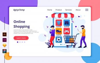 Agnytemp-购物图v7 网页banner插图ui模板素材下载