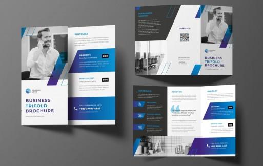 商业灯笼小册子 三折页设计素材模板下载