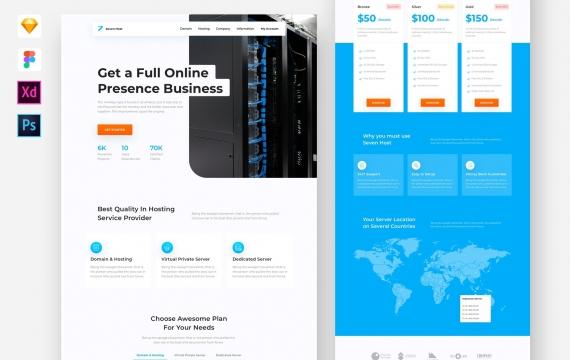 托管服务网站模板网页ui素材下载