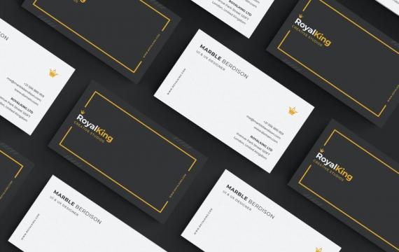 黑白简洁的商务名片设计模板素材