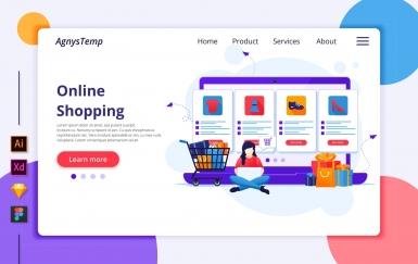 Agnytemp-购物图v2 网页banner插图ui模板素材下载