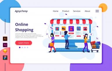 Agnytemp-购物图v5 网页banner插图ui模板素材下载