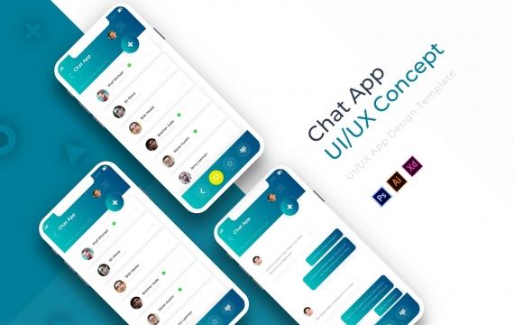 现代聊天| 应用程式范本聊天app模板素材下载