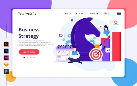 Agnytemp-商业策略插画v4网站banner图模板素材
