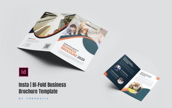 Insta | 双向业务宣传册模板双折页下载