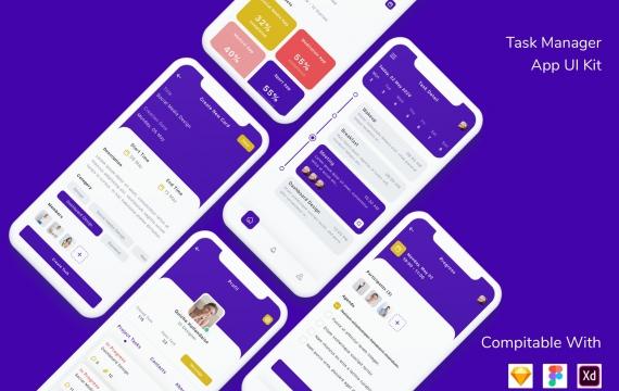 任务管理器应用程序UI套件app模板下载