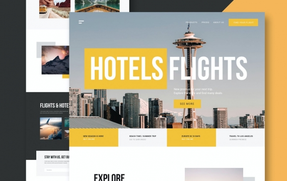 旅行社-网站模板下载旅游网页设计界面素材
