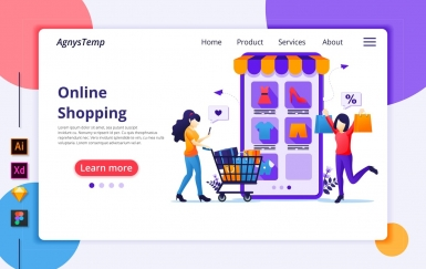 Agnytemp-购物图v1 网页banner插图ui模板素材下载