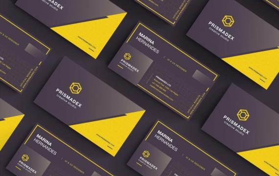 黑黄商务名片设计模板素材下载
