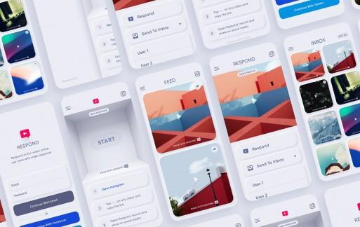 响应– Neumorphic App Kit ui模板素材下载