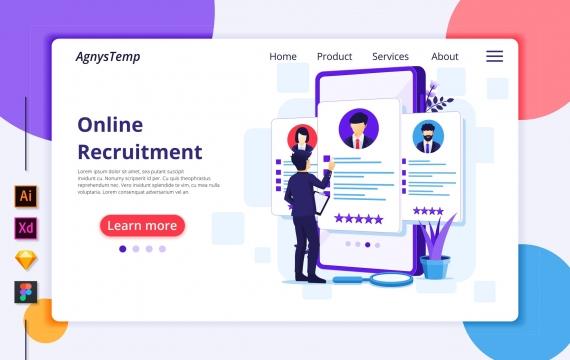 Agnytemp-招聘插图v7 网页模板banner图素材下载