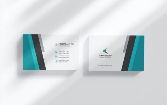 可编辑的商务名片设计模板素材下载