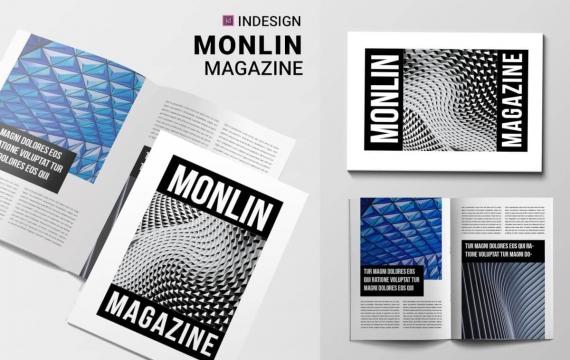 Monlin | 杂志排版版式设计模板下载