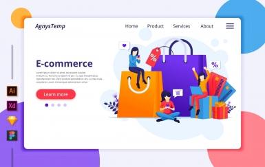 Agnytemp-购物图v4 网页banner插图ui模板素材下载