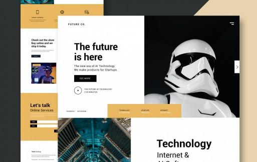 技术业务-网站模板ui素材下载
