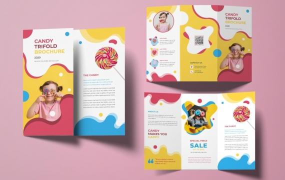 Lolipop三折小册子 三折页设计素材模板下载