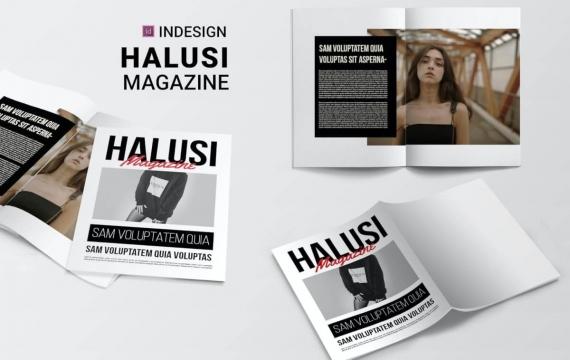 哈卢西| 杂志排版版式设计模板下载