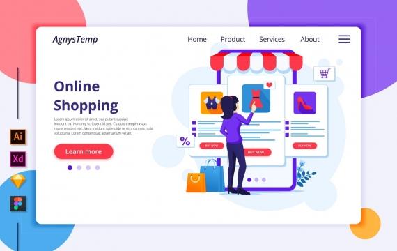 Agnytemp-购物图v3 网页banner插图ui模板素材下载