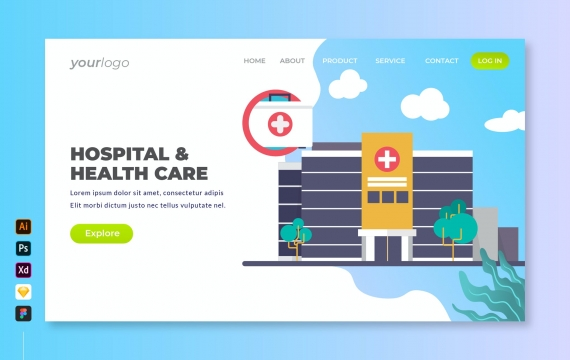 医院与卫生保健-登陆页面banner图素材