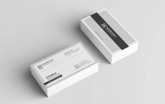 简约大气灰色商务名片模板素材下载
