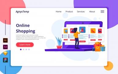 Agnytemp-购物图v8 网页banner插图ui模板素材下载