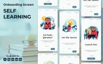 在线学习教育app模板素材插画引导页面设计