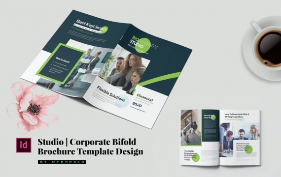 工作室| 企业双重宣传册模板设计
