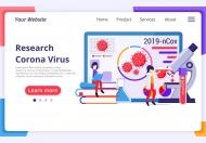 Agnytemp-电晕病毒插图v12网站banner插画素材下载