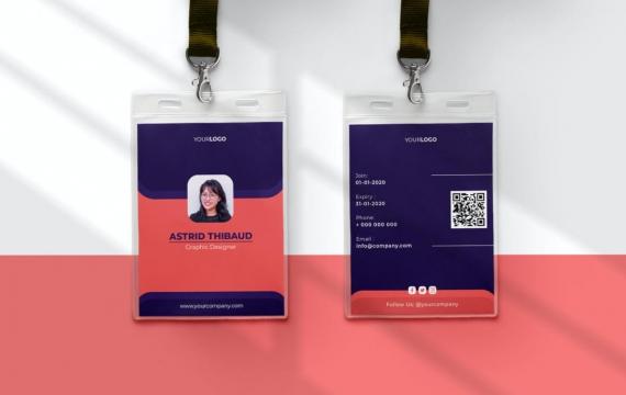 身份证卡Vol.22工作牌设计模板下载