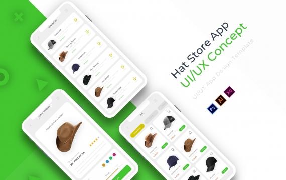 帽子店| 应用程式范本app模板下载
