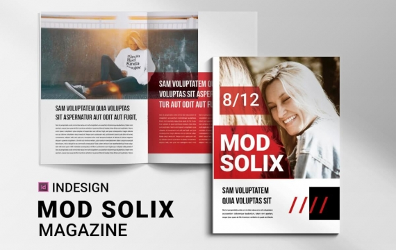 Mod Solix | 杂志排版版式设计模板下载