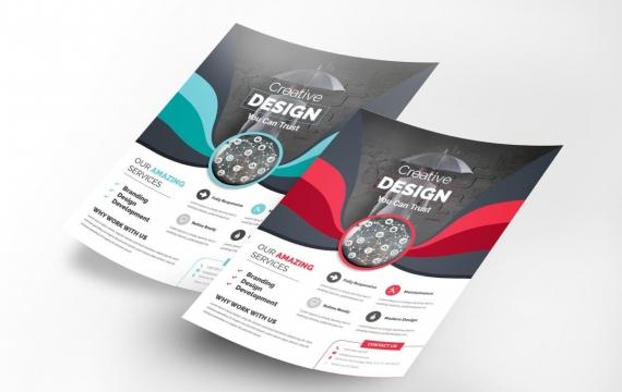 公司传单素材传单设计模板下载