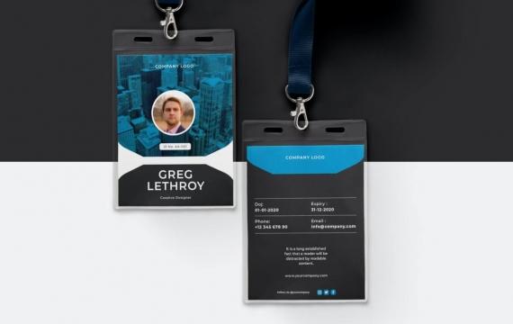 身份证卡Vol.13工作牌设计模板下载