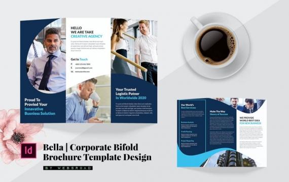 贝拉| 企业三栏式小册子三折页模板载