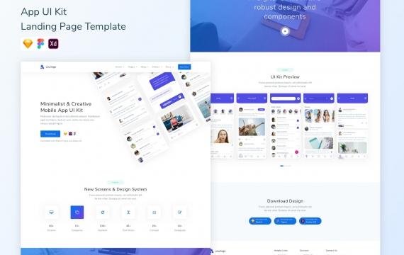 App UI Kit登陆页面模板网页界面设计模模板下载