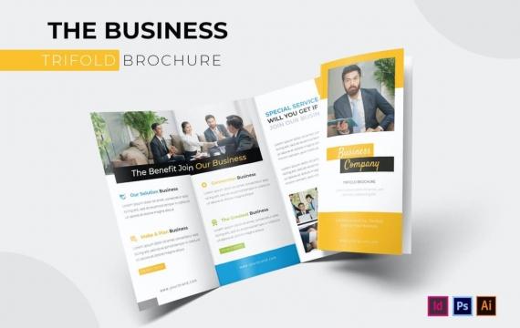 商业| 灯笼宣传册模板三折页素材免费下载