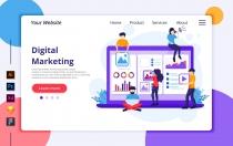 Agnytemp-数字营销插图v2网站banner图素材下载