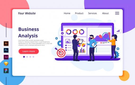 Agnytemp-业务分析图v2网站banner插图模板下载