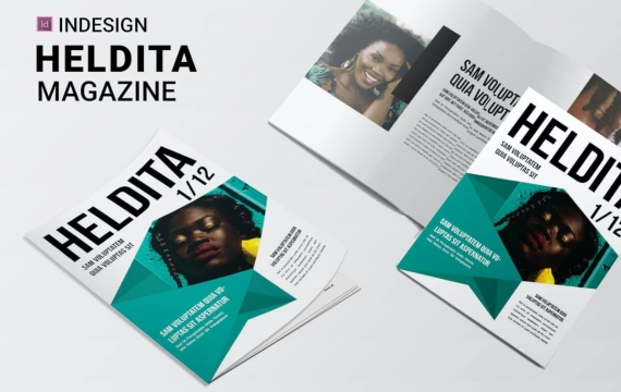 Heldita | 杂志排版版式设计模板下载