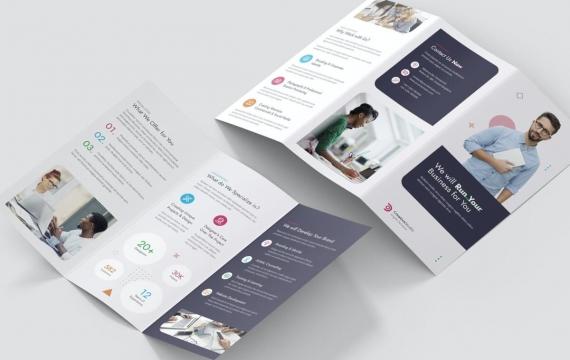 手册–三折页设计素材模板下载