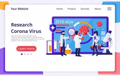 Agnytemp-观察病毒插图 banner图模板素材