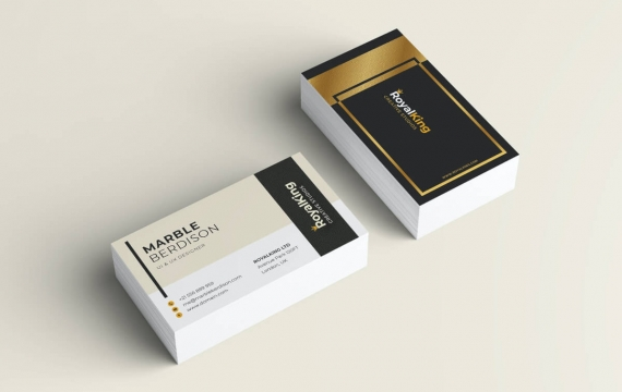 黑金背景商务名片设计模板素材