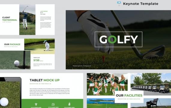 高尔夫主题演讲模板Keynote模板下载