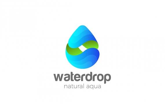 徽标水滴矿物天然生态水logo