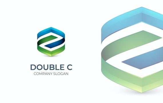 字母双C logo设计