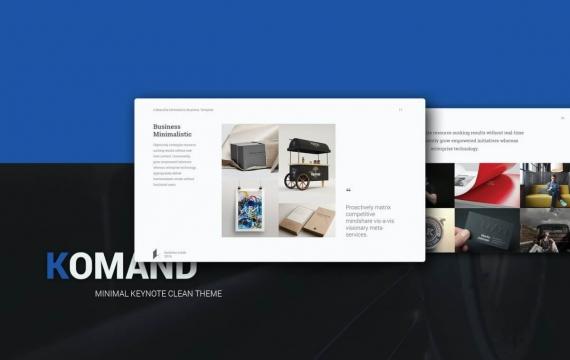 Komand主旨最小模板Keynote模板下载