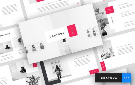 Gratova-创意主题演讲模板Keynote模板下载