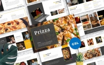 Prizza –披萨和饮料Googleslide模板